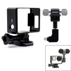 3.5mm Plug Mini Stereo Microphone w/ Standard Frame for GoPro Hero 3/3+/4 - Black + Silver
