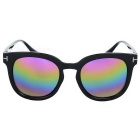 Fashionable Outdoor UV Protection Colorful Lenses Sunglasses - Black