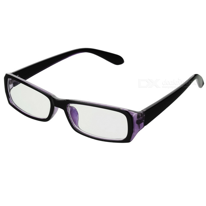 UV400 Computer Radiation Protection Anti-Blue-Light Glasses Spectacles - Black + Clear Blue