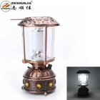 ZHISHUNJIA Solar Charging 240lm 10 White LED Camping Lamp - Bronze Red