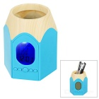Hexagon Pen Container Style Desk Clock / Alarm Clock / Timer - Blue