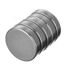 23*23*5mm Strong Magnetism Round NdFeB Magnet - Silver (5PCS)