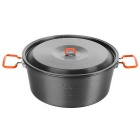 Fire-Maple Outdoor Camping Picnic Ultra-Light Big Cooking Soup Pot Stockpot - Dark Grey (4.4L)