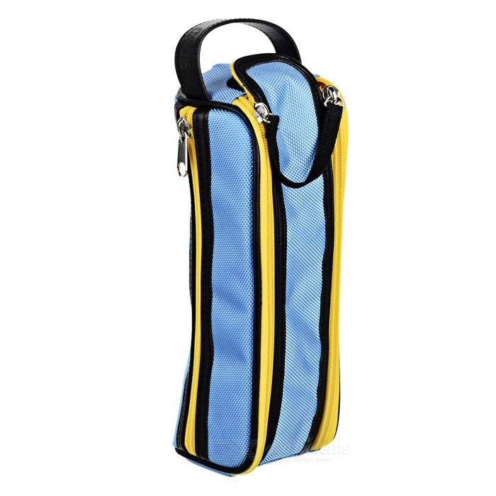 CADEN Y1 custodia in nylon Audio Bag Box Portable - Blu + Giallo