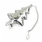 Christmas Tree Style Stainless Steel Tea Strainer Infuser - Silver