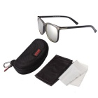 ReeDoon SK702 UV400 Protection Polarized Sunglasses - Black + Silver