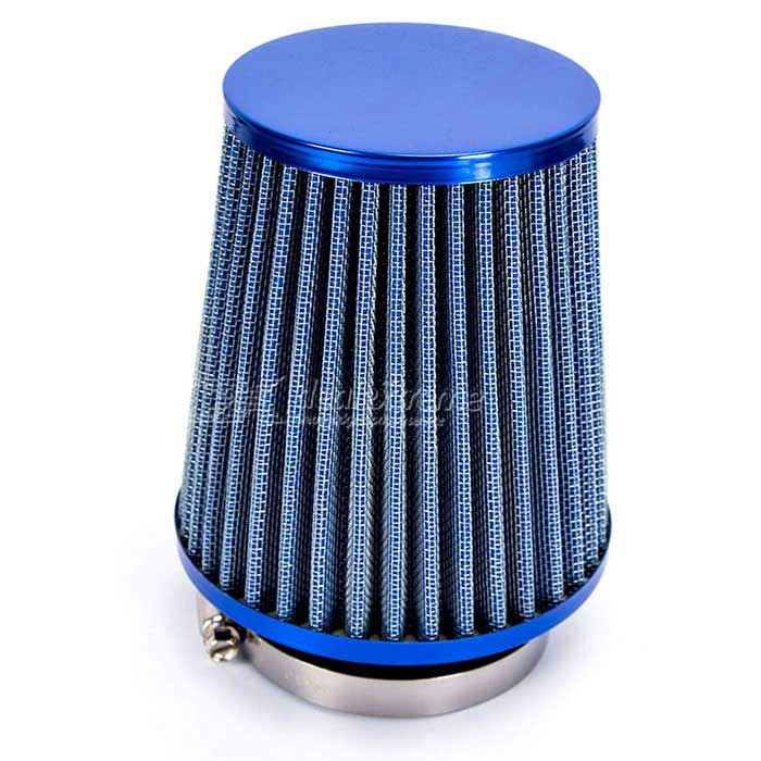 Replacement 76mm 3 Plastic Hose Clamp Air Intake Filter - BlueOther Gadgets<br>Form ColorBlueModelN/AQuantity1 DX.PCM.Model.AttributeModel.UnitMaterialMetal, Filter Paper, Rubber, PlasticShade Of ColorBluePacking List1 x Air Filter<br>