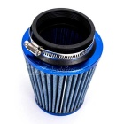 "Replacement 76mm 3"" Plastic Hose Clamp Air Intake Filter - Blue"