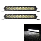 50W 5000lm 10-LED White Spot Beam Light Bar - Black (DC 10~30V / 2PCS)