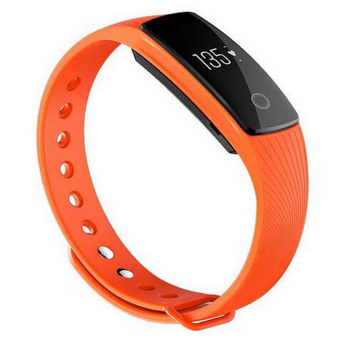 ID107 Bluetooth V4.0 Heart Rate Monitor Smart Bracelet - Orange