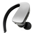 Q2 Stereo Bluetooth Ear-hook Single Earphone w/ Mic. - Silvery Grey
