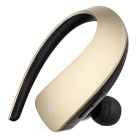 Q2 Stereo Bluetooth V4.1 Ear-hook Single Earphone w/ Mic. / Touch Key - Black + Champagne Gold