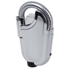 Flexible Goose Neck Nozzle Mini Gas Torch Windproof Lighter - Silver