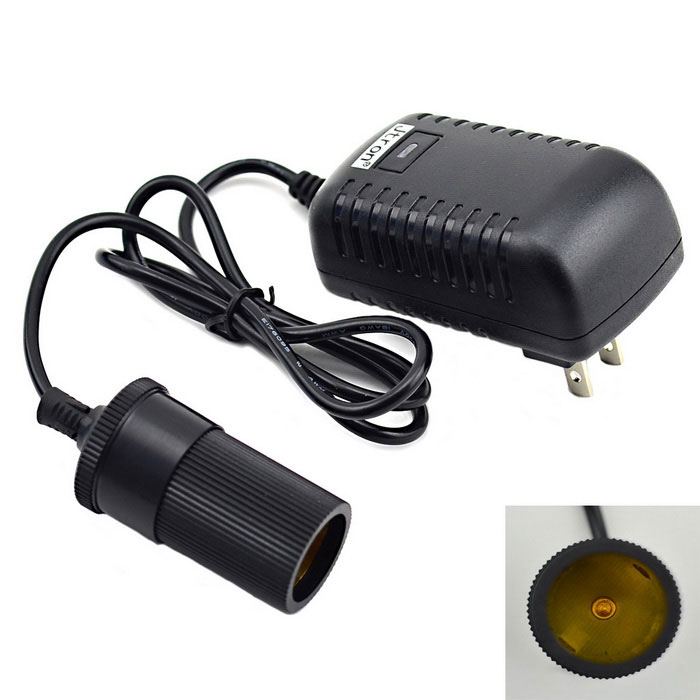 Jtron voiture 12V / Accueil double usage AC / DC Power Adapter - Noir (100 ~ 240V)