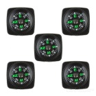 Outdoor Mountaineering / Camping 20mm Wearable Compass - Black (5PCS)
