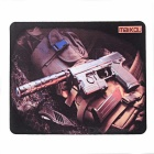 MAIKOU 220*180mm Jacket Firearm Pattern Mouse Mat Pad - Brown + Black