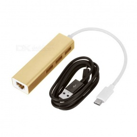 3-USB 3.1 Type-C to MB Network Port HUB w/ Charging Cable