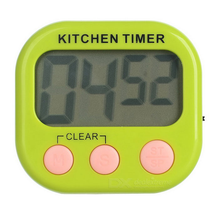 2.1 LCD Digital Kitchen Timer w/ Count Up Count Down Function - Green