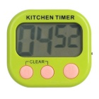 "2.1"" LCD 99 Minutes and 59 Seconds Digital Kitchen Timer w/ Count Up / Count Down Function - Green"