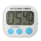 "2.1"" LCD 99 Minutes and 59 Seconds Digital Kitchen Timer w/ Count Up / Count Down Function - White"