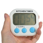 "2.1"" LCD Digital Kitchen Timer w/ Count Up Count Down Function - White"