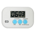 "1.4"" LCD 99 Minutes and 59 Seconds Digital Kitchen Timer w/ Count Up / Count Down Function - White"