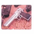 MAIKOU 220*180mm Silver Barrel Pistol Pattern Mouse Pad Mat - Brown