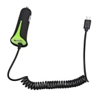 Universal Single Port USB Car Power Charger - Green + Black