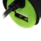 Universal Enkelt Port USB Car Power lader - Grønn + Svart