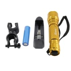KINFIRE K01K XM-L T6 Flashlight w / Clip, 18650 Batery Charger - Gold