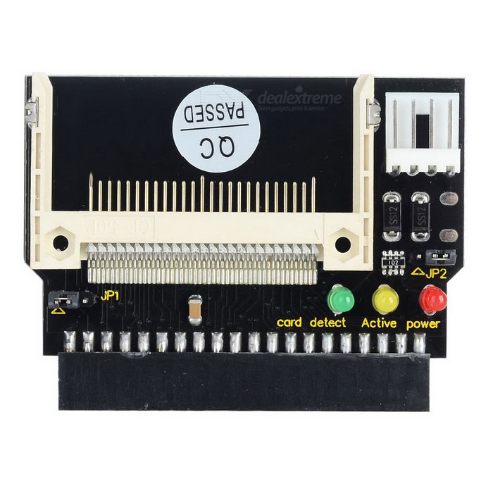 CF to IDE 3.5 Female Adapter Card - Black + WhiteForm  ColorBlack + White + Multi-ColoredQuantity1 DX.PCM.Model.AttributeModel.UnitMaterialPCPacking List1 x Adapter card<br>