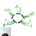Decore Hairstyle Lucky Grass Hairpin - Grass Green + Black (5PCS)