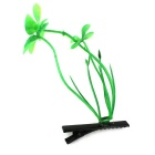 Decorate Hairstyle Lucky Grass Hairpin - Grass Green + Black (5PCS)