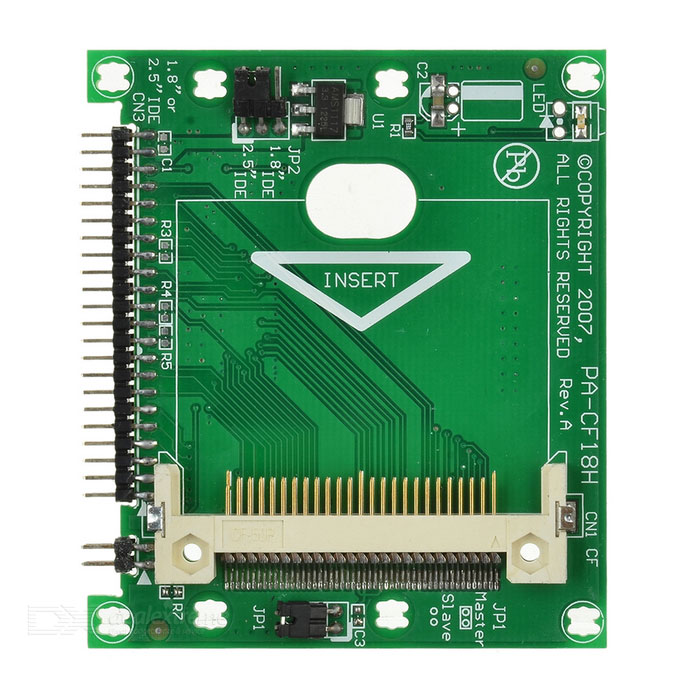CF to IDE 44Pin Adapter Card - Green