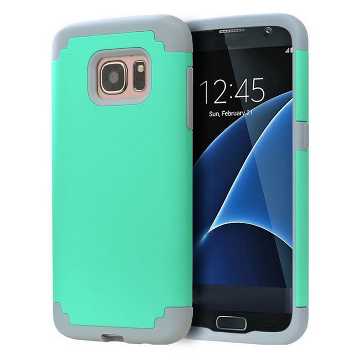 Drop Resistance TPU Back Case for Samsung Galaxy S7 Edge - Green