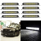 50W 10LED 5000lm Spot + Flood White LED WorkLight Bar - Black (8PCS)