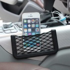 ZIQIAO CZ-03 Automobile Car armazenamento Mesh Bag Box - preto (20 x 8cm)