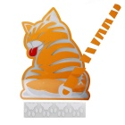 Cat Moving Tail Stickers Reflective Car Window Wiper Decals - Yellow