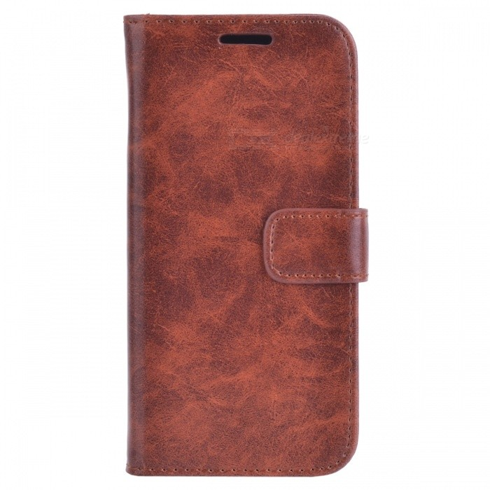 Premium PU Case w/ Card Slots for Samsung Galaxy S7 Edge - BrownLeather Cases<br>Form  ColorBrownModelN/AMaterialPU + PCQuantity1 DX.PCM.Model.AttributeModel.UnitShade Of ColorBrownCompatible ModelsSamsung Galaxy S7edgePacking List1 x Case<br>
