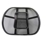 ZIQIAO Car Seat Massage Cushion Lumbar Back Brace - Black + White
