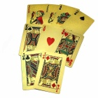 Waterproof Plastic Scrub Gold Foil Poker Texas - Golden