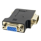 CY DB-015 90-Degree Angled VGA Male to Female Adapter - Black