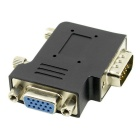 CY DB-014 90-Degree Angled VGA Male to Female Adapter - Black