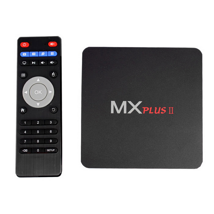MX PLUSII Google TV Player w / 1GB RAM, 8GB ROM - Black (US stekkers)