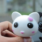 ZIQIAO Car Lovely Head Shaking Cat Decoration - White + Purple