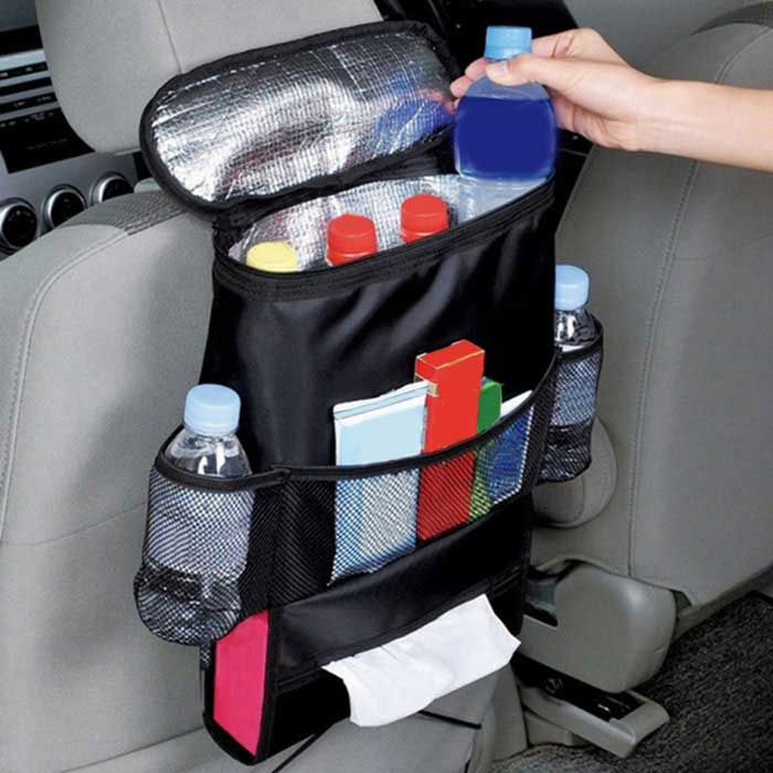 ZIQIAO Car Thermal Cooling Back Seat Hanging Organizer - Black