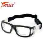 Panlees JH0042 Anti-scratch Anti-impact Prescription Lens Accepted Ball Games Goggle - Black