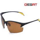 OSSAT PL-002 Driving UV400 Protection Polarized Sports Sunglasses - Black + Yellow + Tawny
