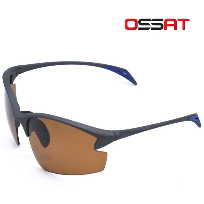 OSSAT PL-002 UV400 Protection Sports Sunglasses - Grey Black + Tawny