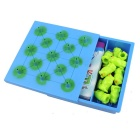 40 Questions Children Puzzle Toys Frog Checkers Game Toy Set - Blue